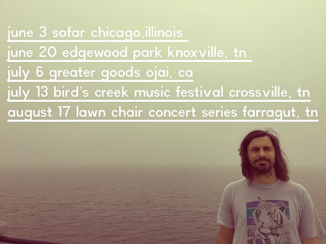 Some dates... Chicago on the 3rd! And to my west coast friends let's hang. And really excited for Byrd's Creek Festival July 11-13 in Crossville,, camping! Alright that's all, live long and prosper. @mathien  @sofarchicago @sofar @byrdscreekmusicfestival @lawn_chair_concertseries @greatergoodsojai @leylinesound • • • • • #ojai #greatergoods #sofarsounds #sofarchicago #lawnchairconcertseries #chicago #knoxville #byrdscreekmusicfestival #crossville #northknoxville #edgewoodpark #festival #singersongwriter #travelingmusician #toyotarv #toyotasunlandexpress #houseconcert #folkyeah #tennessee