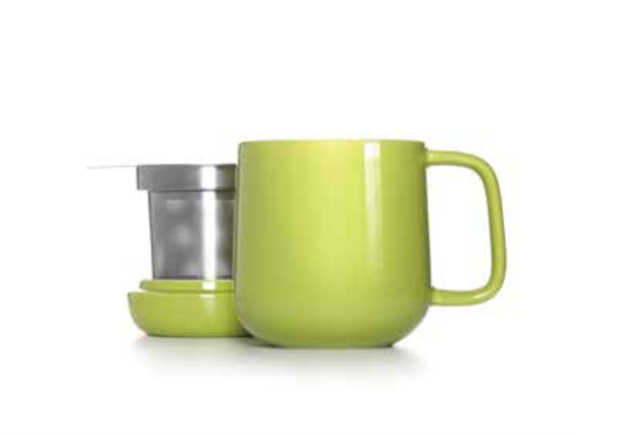 Plump Tea C  up with Strainer and Lid