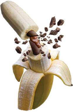 Solid Chocolate Filled Banana