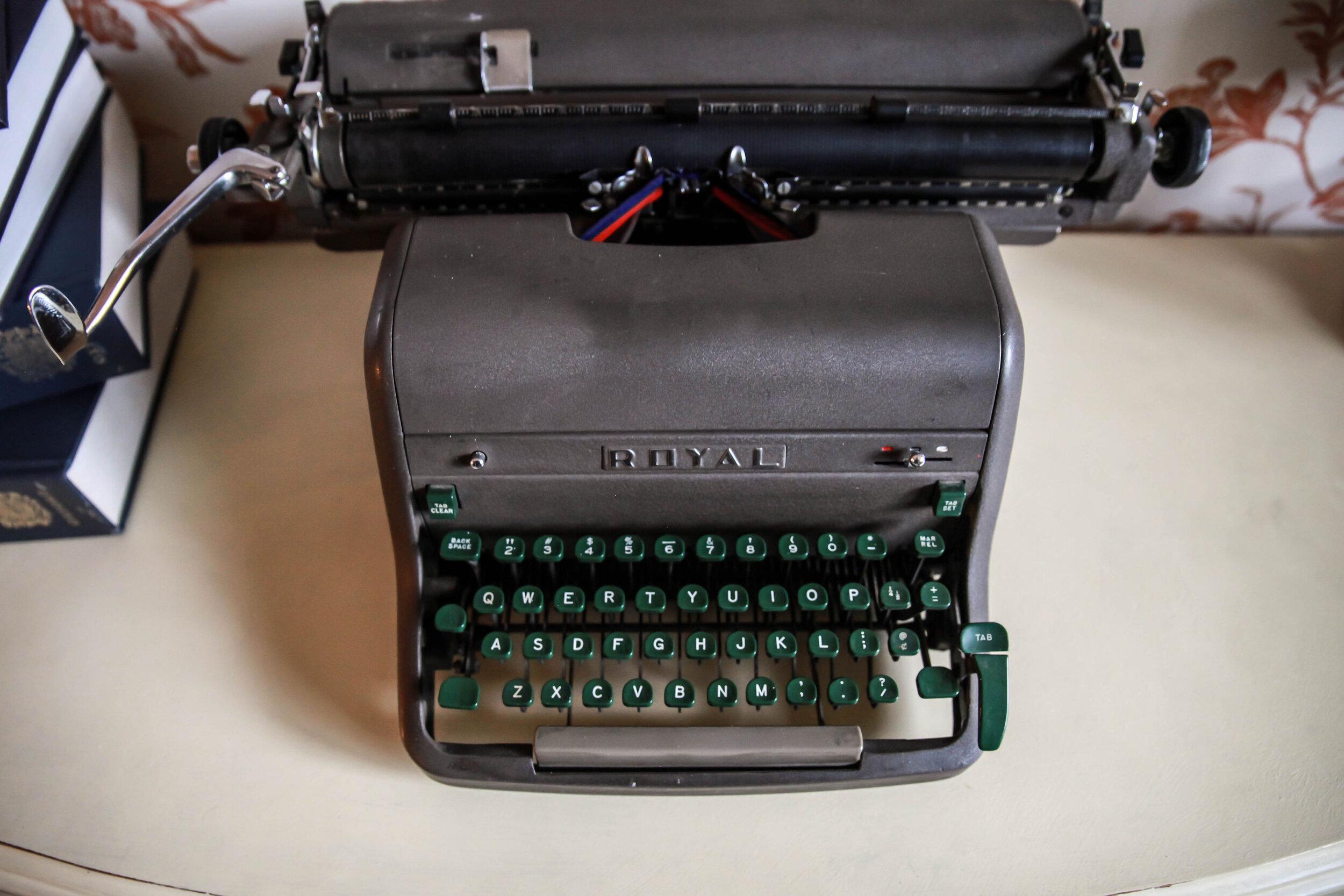 freelance writer's typewriter