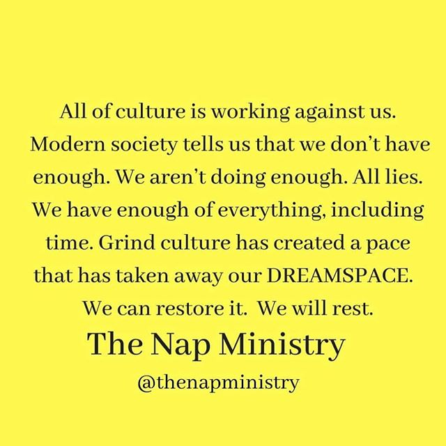 All I can say is: amen @thenapministry
