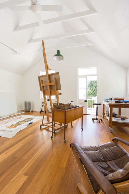 Interior of Artist's studio, Girards Hill, Lismore NSW