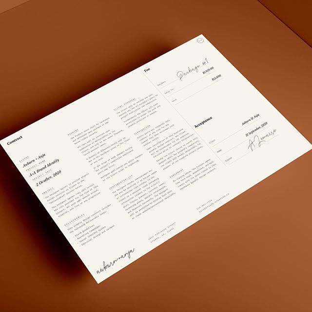 Are you starting work on a new project? The best way to protect both you and your client is to have a contract in place before beginning work. Here's the design contract template from the our newest 'Welcome Kit' template. It's one of a bunch of useful design templates inside the kit. All the text can be customized to your brand. The Welcome Kit template is for sale over on @creativemarket⁠⠀ — linkinbio —⁠⠀ ⁠⠀ .⁠⠀ .⁠⠀ .⁠⠀ .⁠⠀ ⁠⠀ #StudioStandard #pitch #proposal #templates #brandstylist #designstudio #creativedesign #brandstory #visualstorytelling #visualcollective #designtemplates #visualdesign #intentionalliving #everlastingdesign #slowpreneur #stylist #minimaldesign #rts #tuesdaystogether #visualcontent #visualcontentdesign #brandmanagement #contentcurator #visualstylist