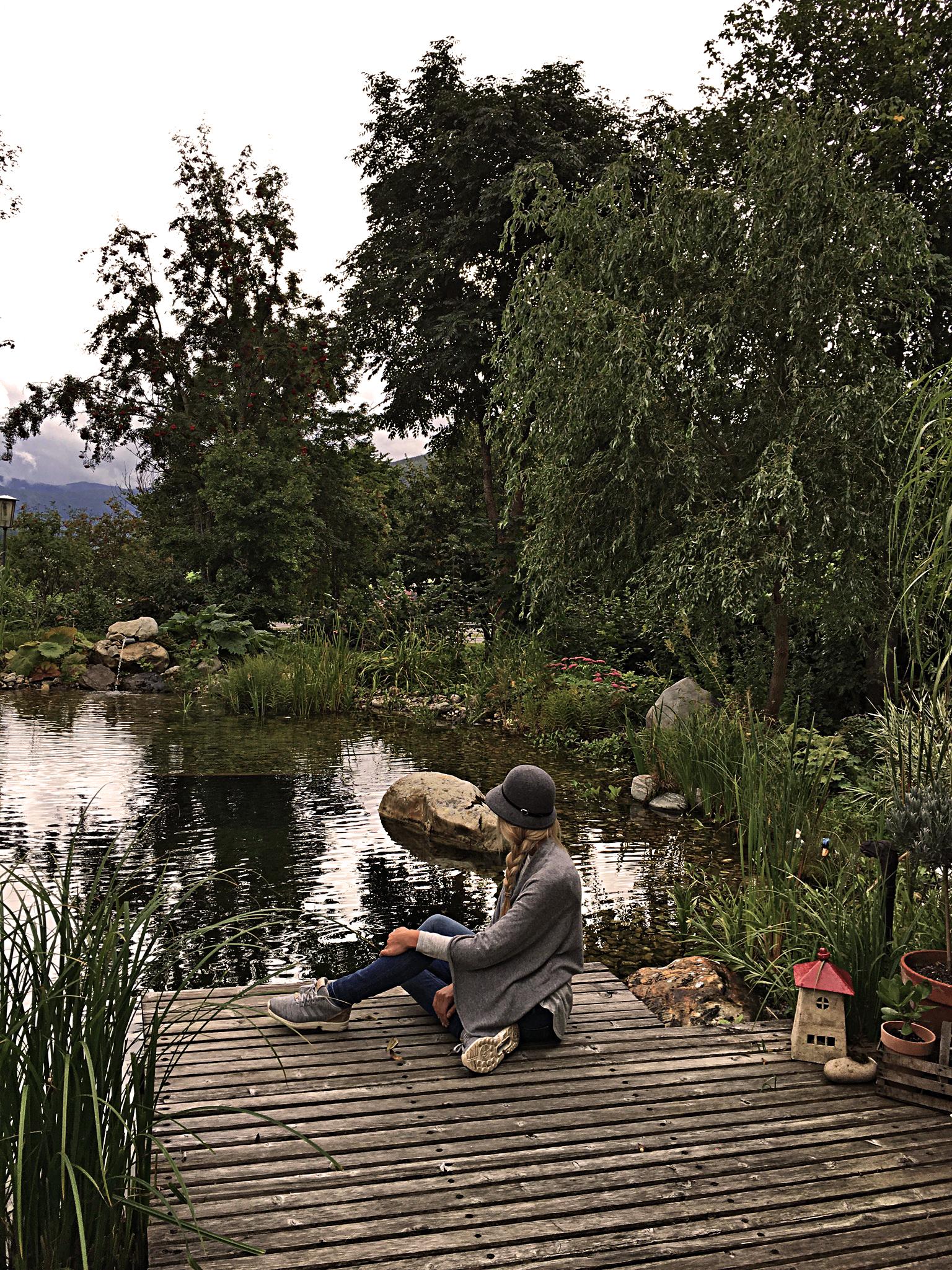 bei meinen Eltern im Garten
