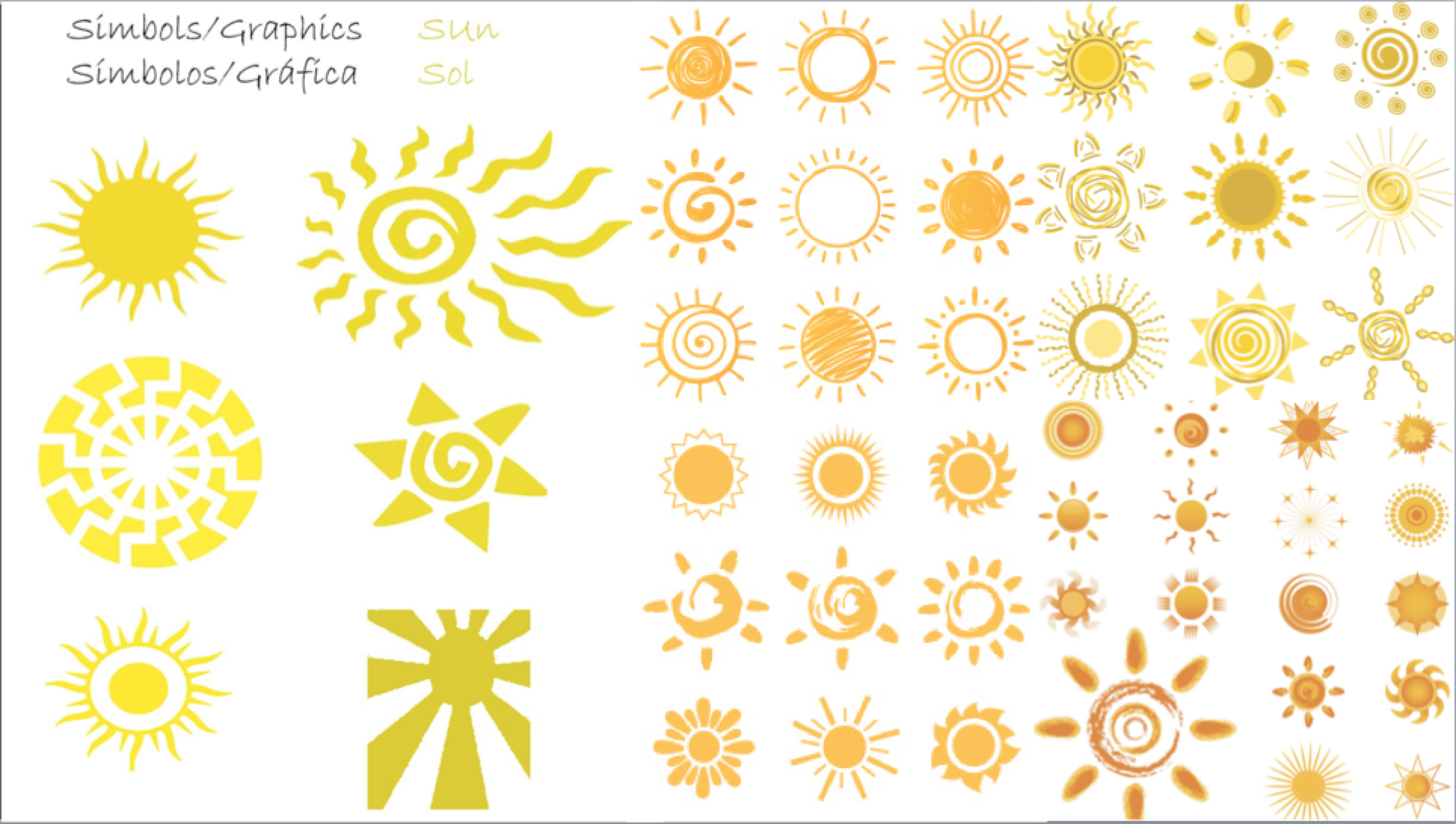 No two suns are alike, various illustrations to exemplify the point.
