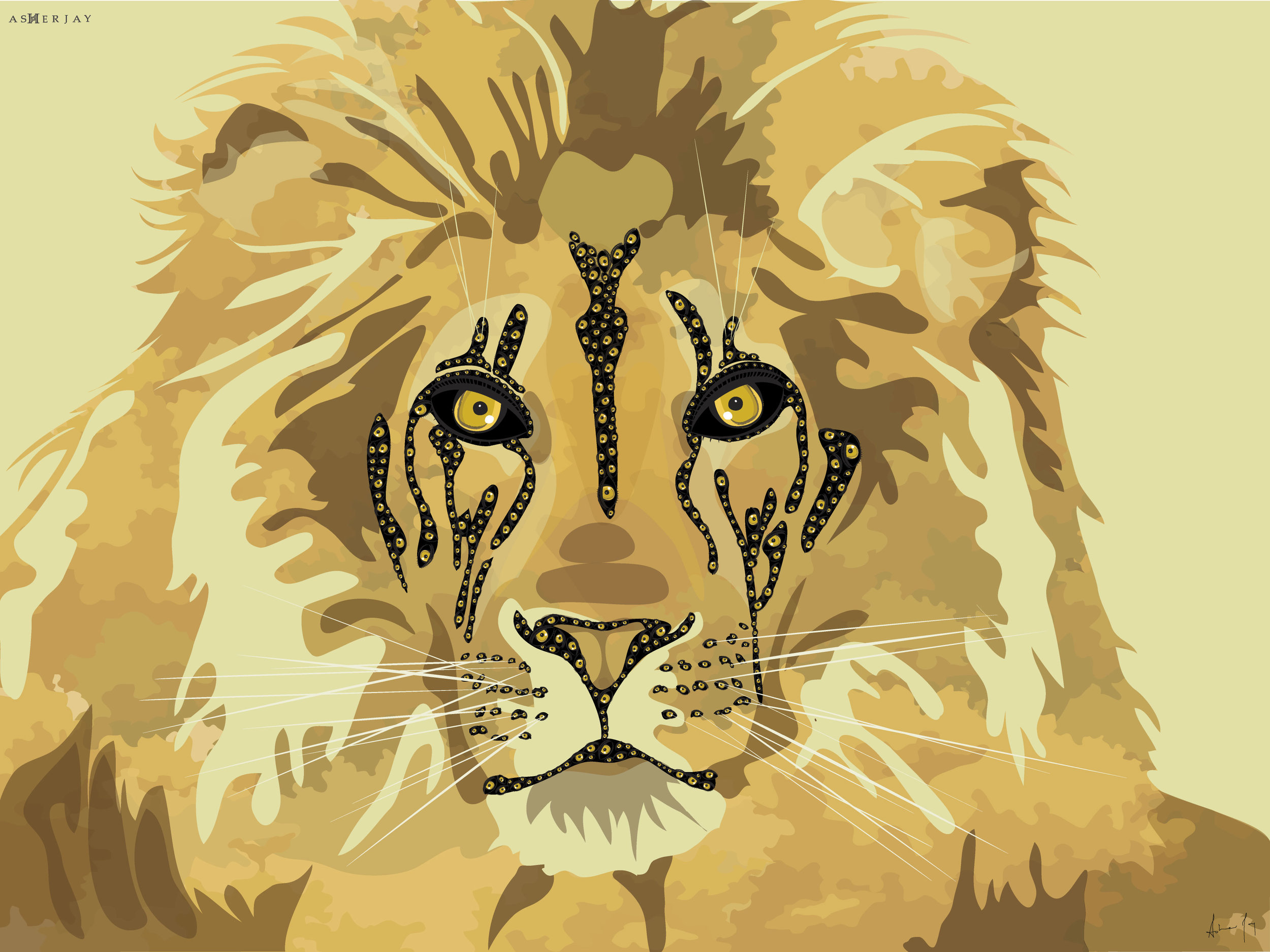 Big Cats Initiative, Eye To Eye with Lion, By Asher Jay