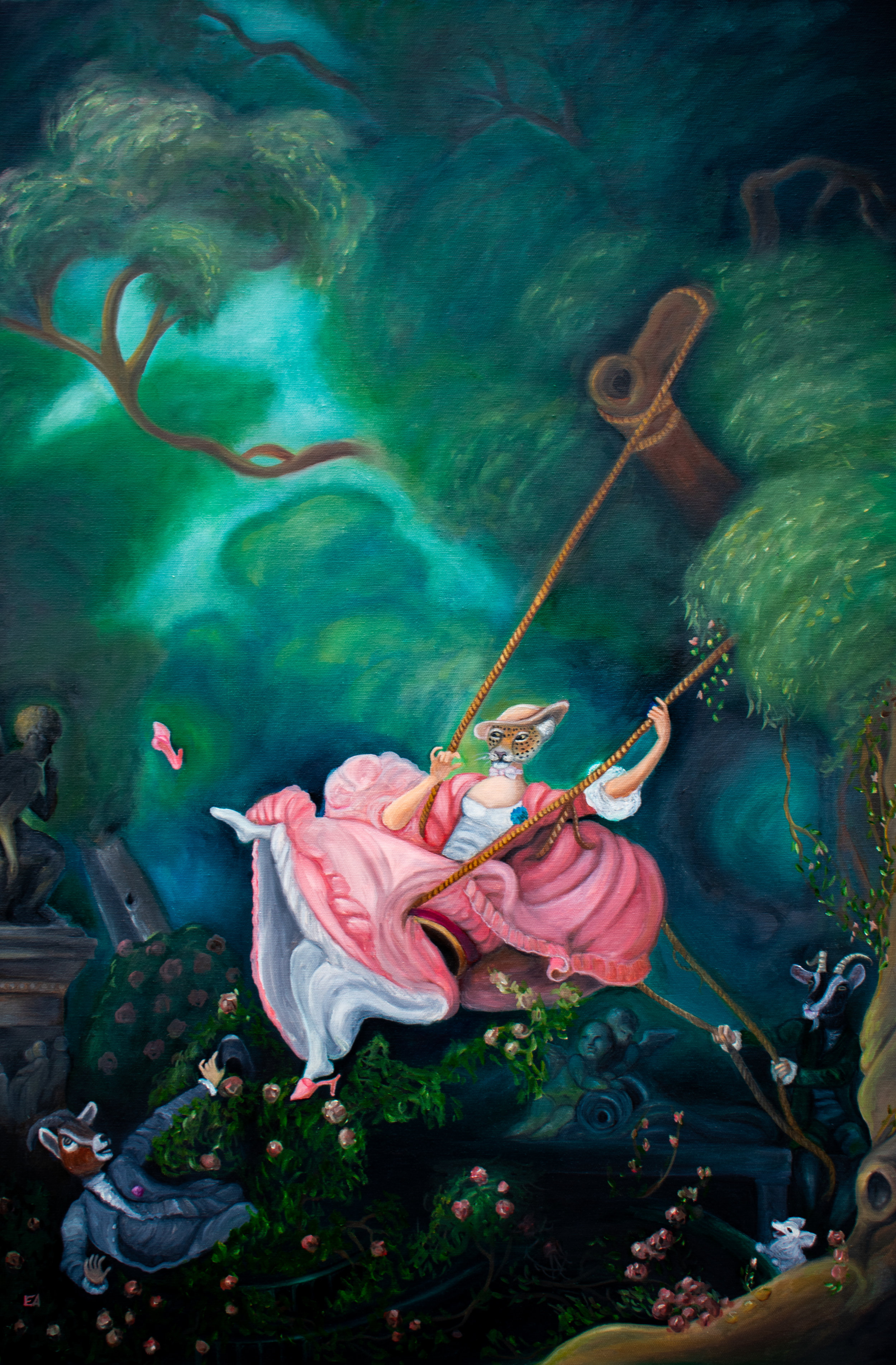"""""""The Swing"""" inspired by the Jean-Honoré Fragonard painting (1767)."""