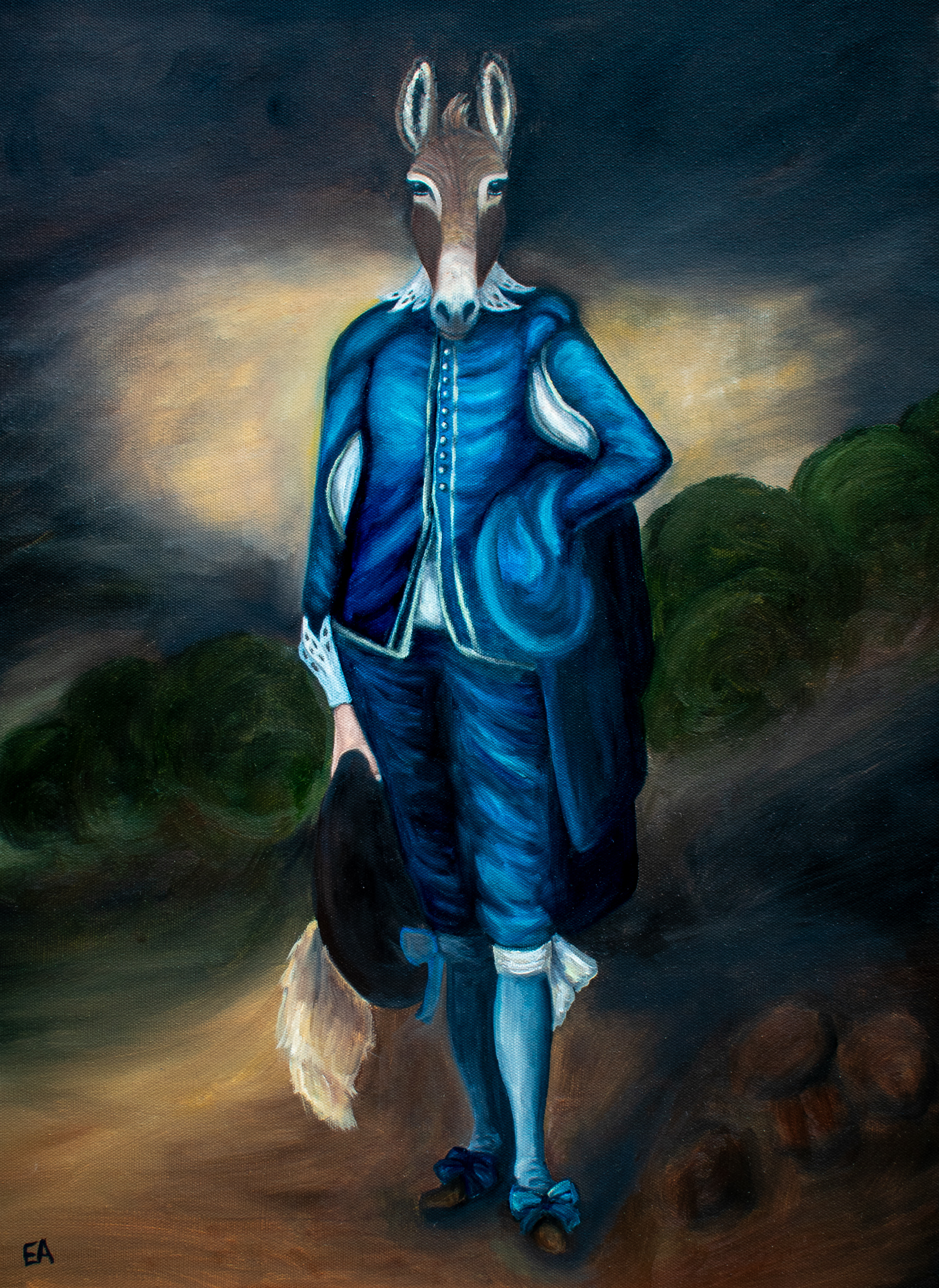 """""""The Blue Boy"""" inspired by the Thomas Gainsborough painting (1770)."""
