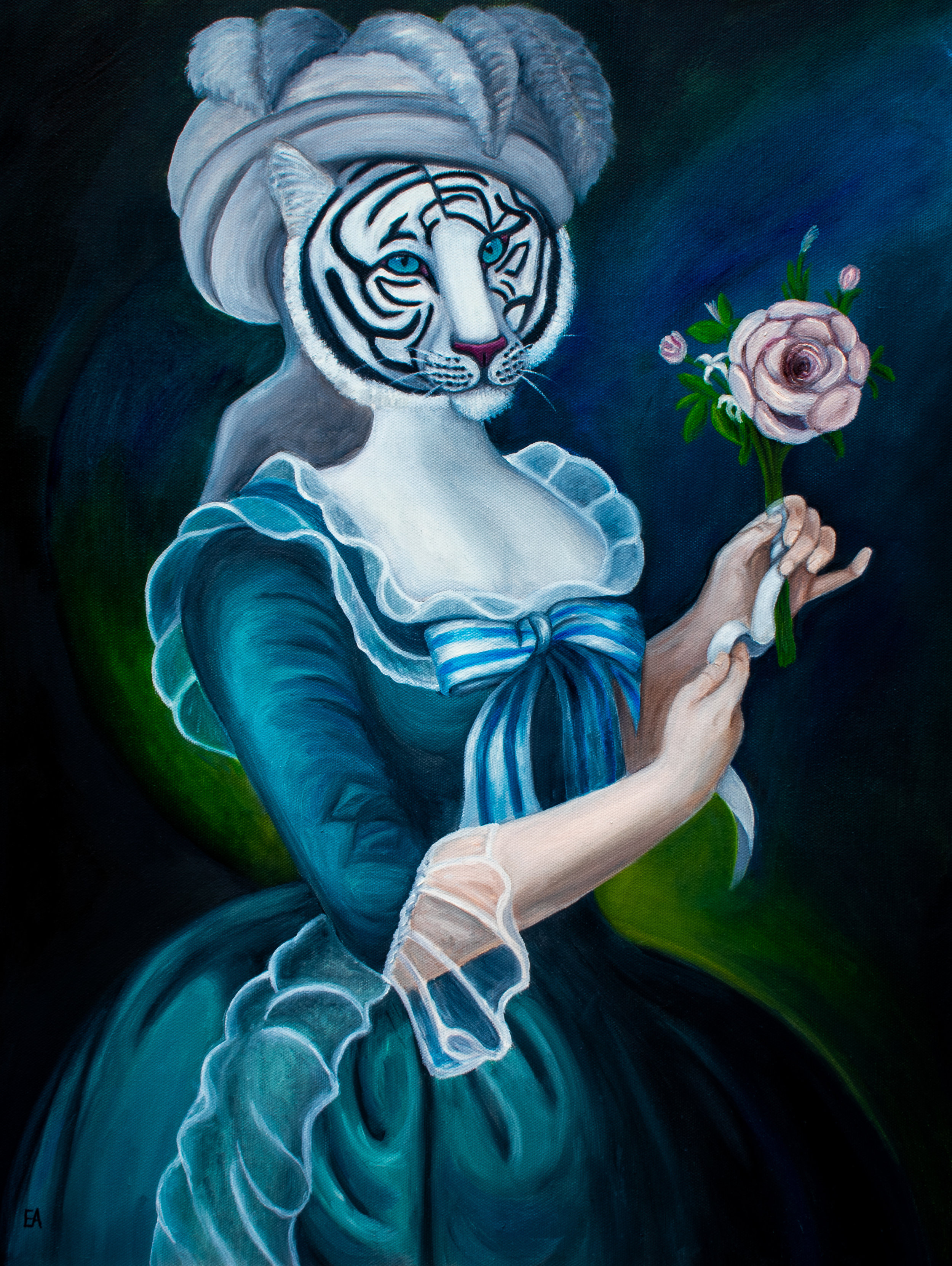 """The Portrait of Marie Antoinette"" inspired by the Élisabeth Vigée Le Brun painting (1783)."