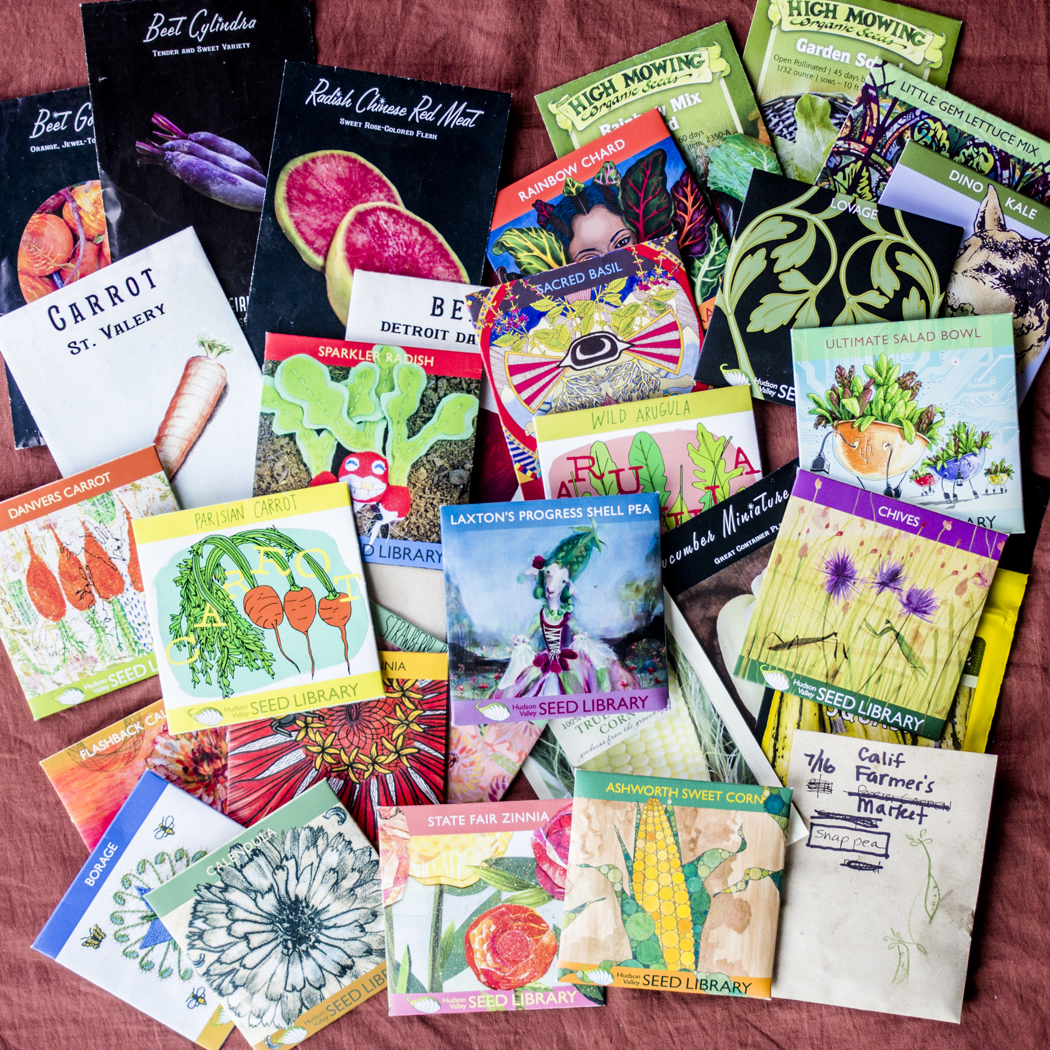 One of my favorite places to source seeds from is the   Hudson Valley Seed Library