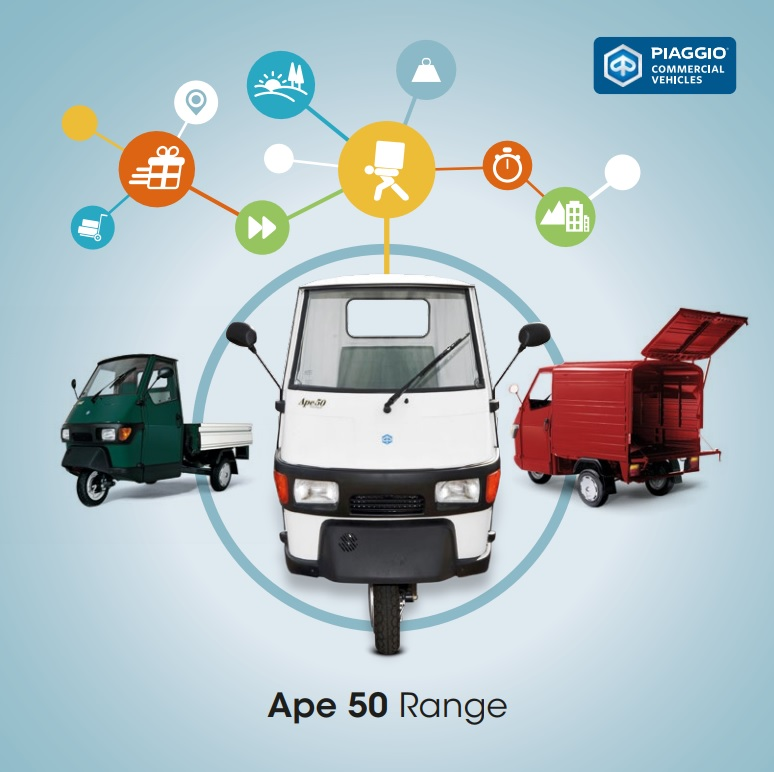 Click to view the ape 50 range brochure