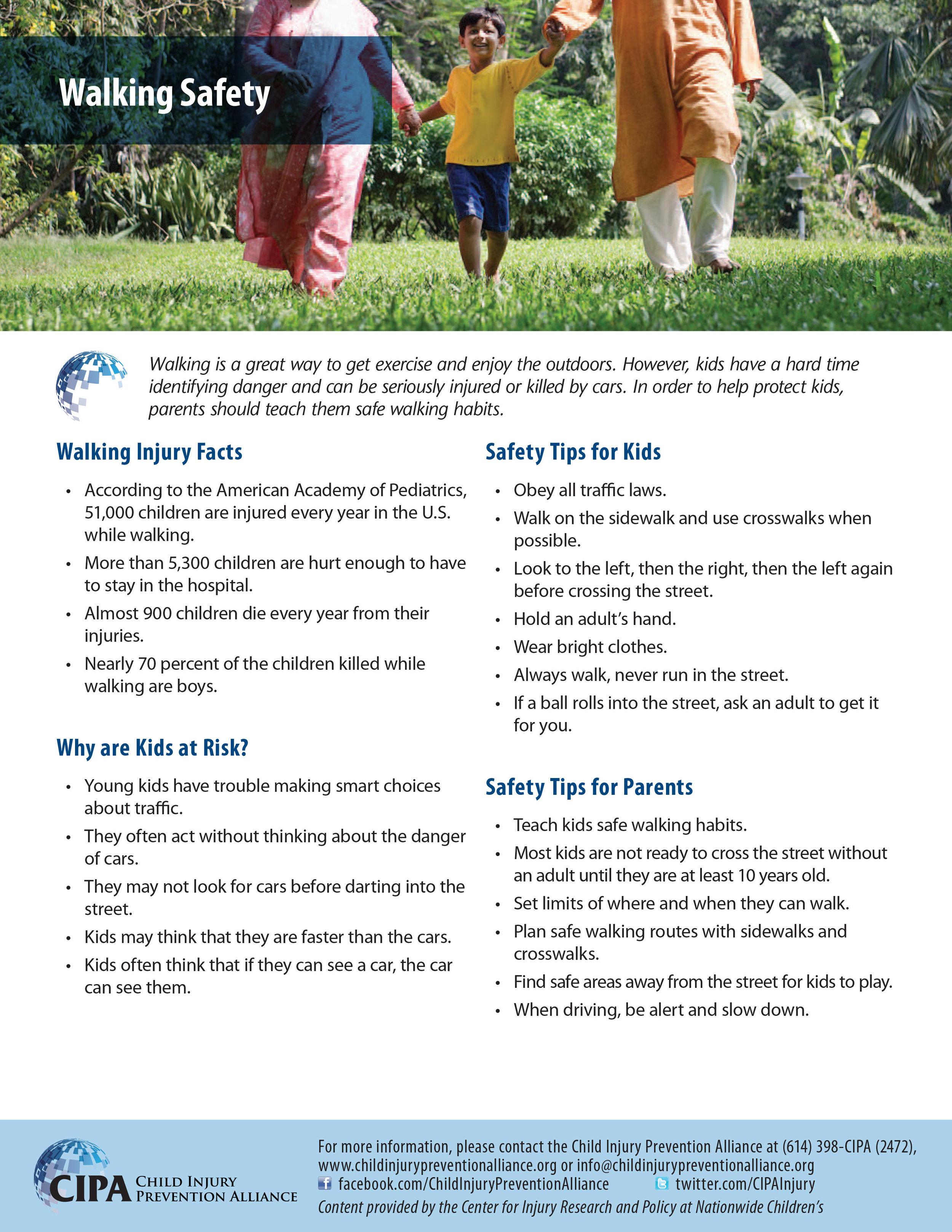 Walking Safely — Child Injury Prevention Alliance