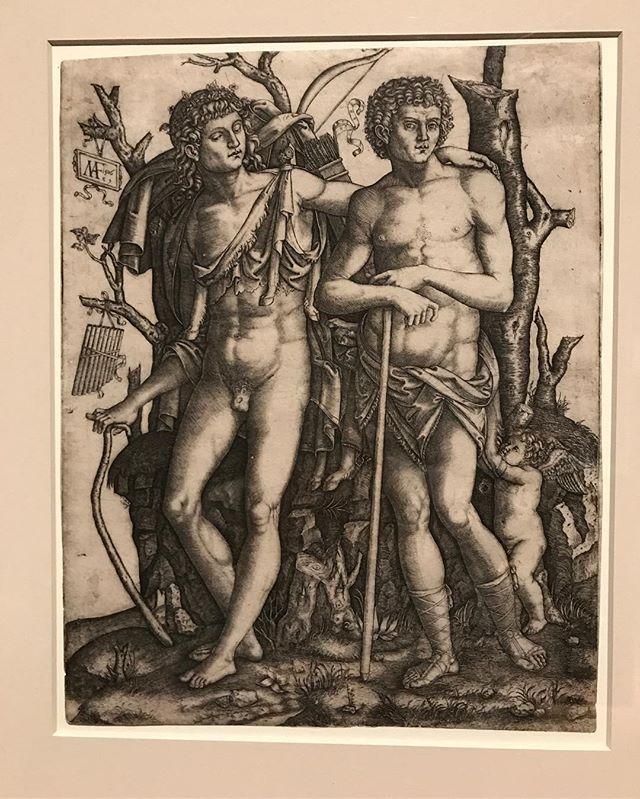 Homosexuality in art: Marcantonio Raimondi, Apollo and Admetus, 1506 - #homosexualityinart #renaissance #marcantinoraimondi #apollo #admetus #mythology #homosexualityinmythology