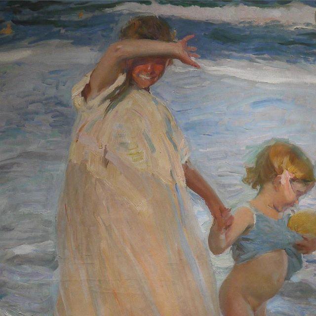 Joaquín Sorolla y Bastida, the two sisters, 1909 #impressionism #spain #valencia #joaquinsorollaybastida #luminism