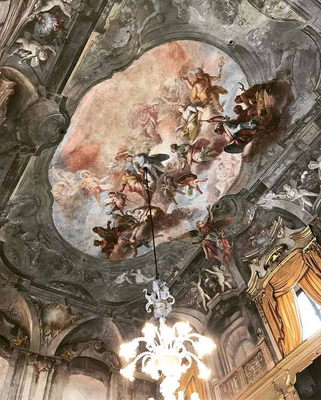 Palazzo Litta, Milano Fresco by Giovanni Antonio Cucchi? #palazzolitta #milano #paintedceiling