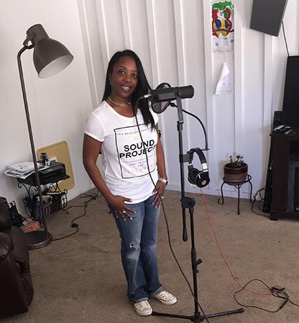 Me in the recording studio.