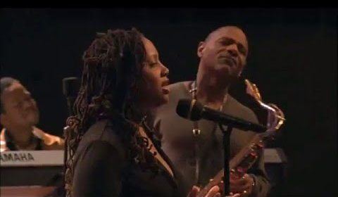 Lalah Hathaway and Kirk Whalum performing the song  It's What I Do .  Source:https://www.youtube.com/watch?v=oTYu2oRXDJg