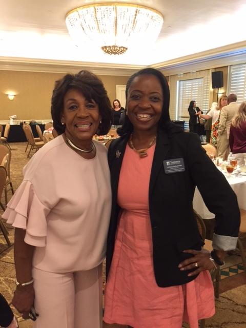 Latrice with Maxine Waters at Chamber Event in Torrance, CA