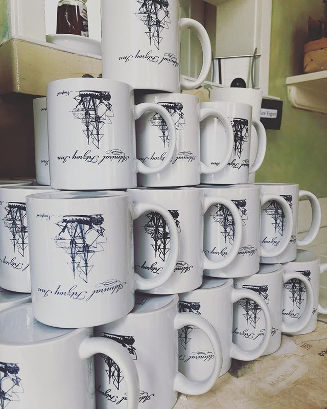 Mugs for sale! Take home your Newport vacation in one of our Admiral Fitzroy mugs- $5 at the front desk ☕️