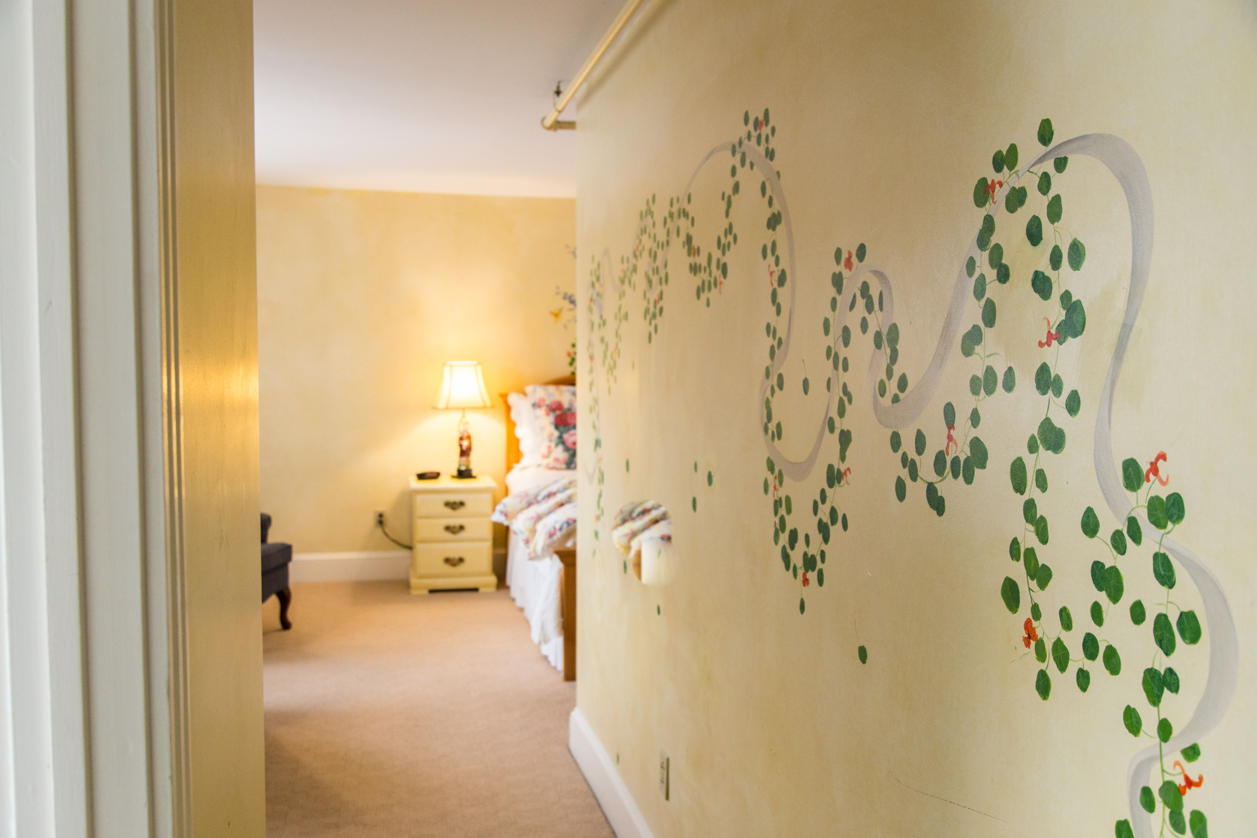 Guestrooms - Our inn Features 18 unique hand painted guestrooms all with their own