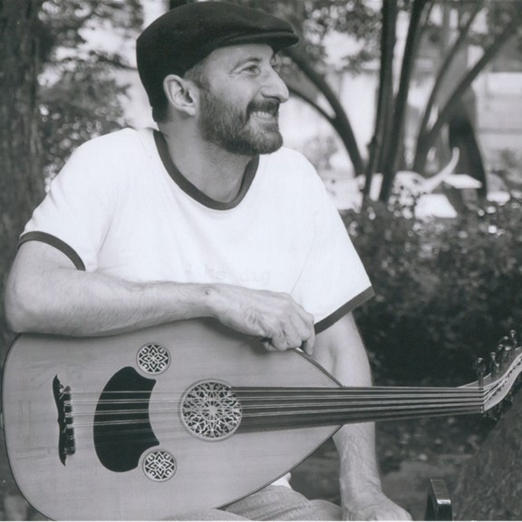Laith Keilany and his oud.  Not pictured: all of the other instruments Laith plays.