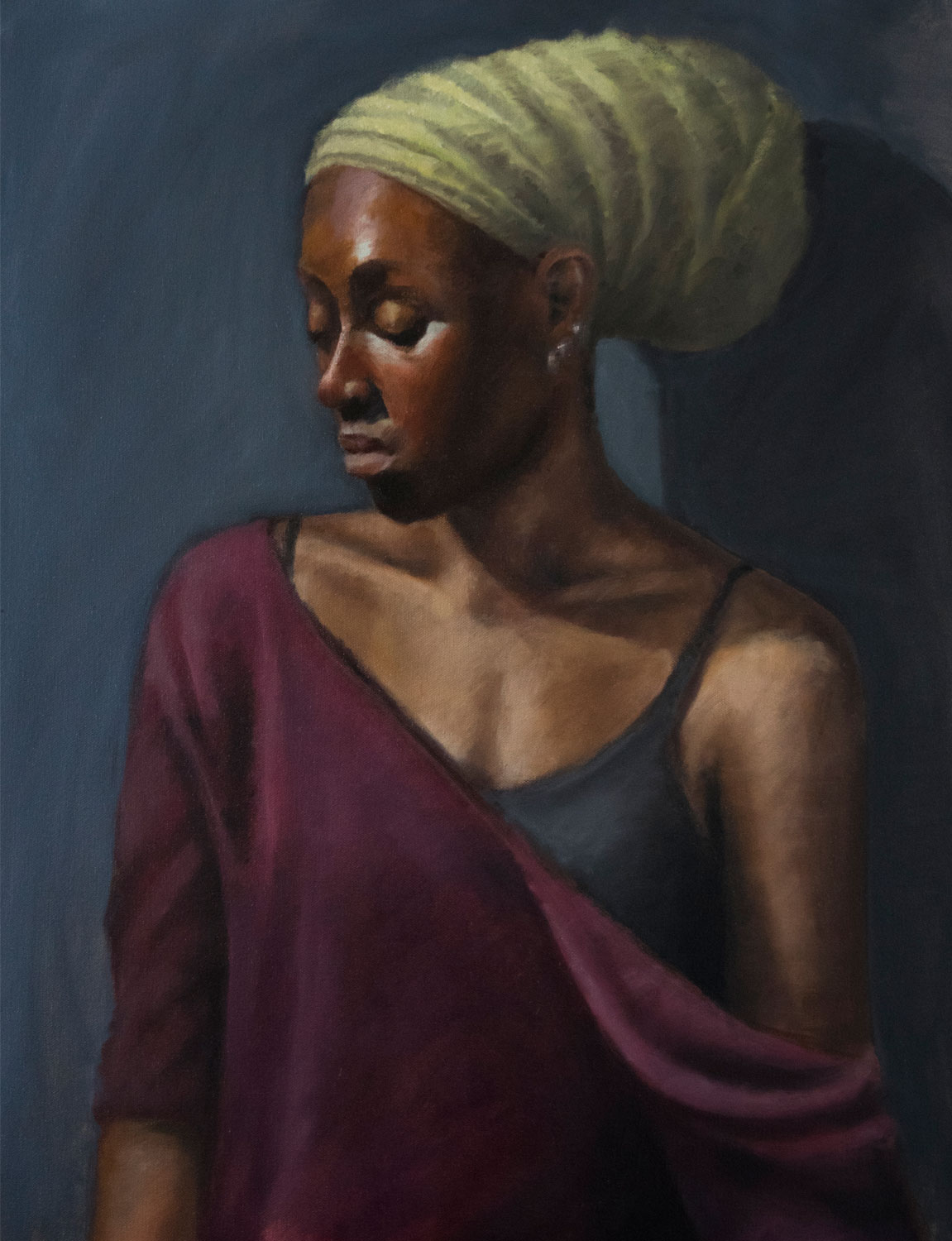 2016, Portrait study.   Oil on canvas, 18 x 24 in. (46 x 61cm.)