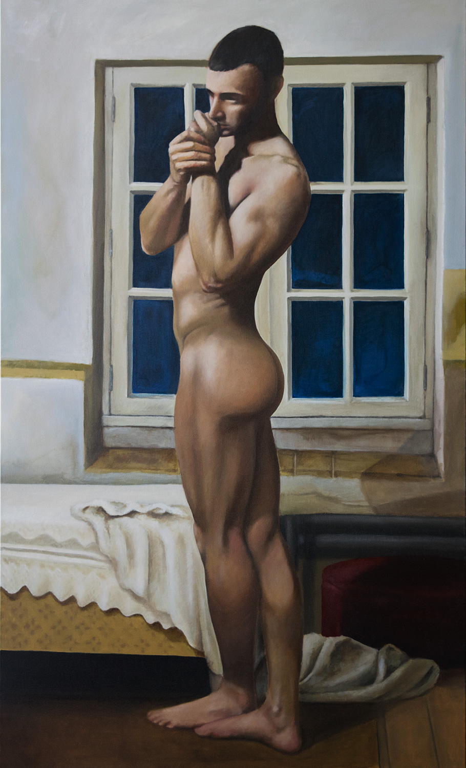2017, Emmanuel.   Oil on canvas, 36 x 60 in. (92 x 153cm.)
