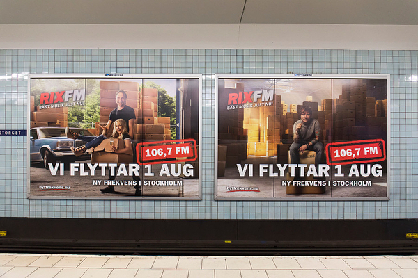 Nordic Entertainment Group, Stockholm aug 2018 — Cross media graphic design work for NENT Radio with 300+ local adaptations and execution nation wide. Large format prints, web banners, news ads etc.  #nentgroup
