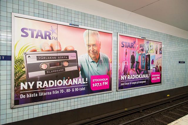 Nordic Entertainment Group, Stockholm oct 2018 — Cross media graphic design work for STAR FM with 300+ local adaptations and execution nation wide. Large format prints, web banners, news ads etc.  #nentgroup