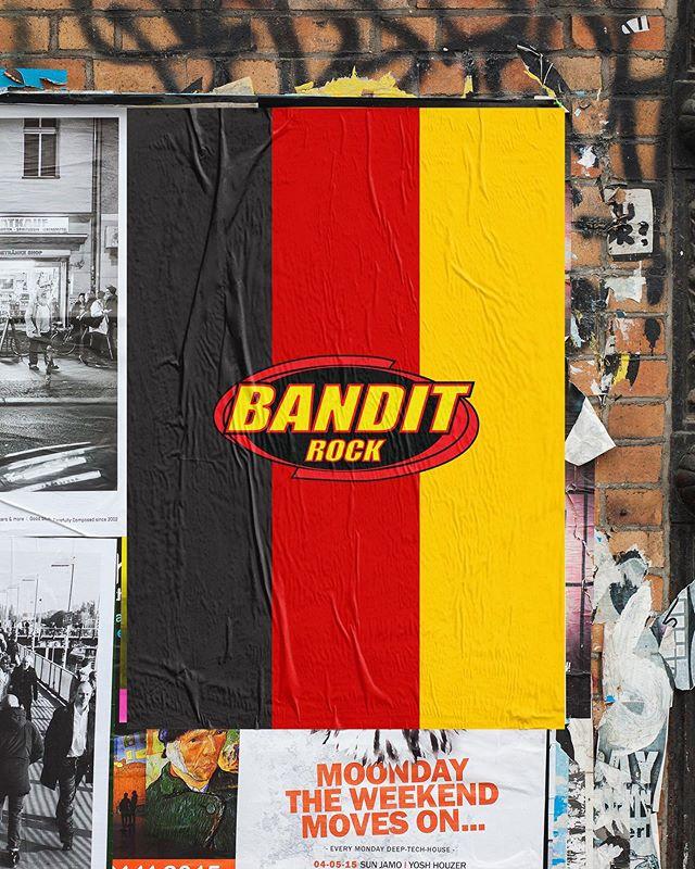 Nordic Entertainment Group, aug 2019 ___ Bandit Rock rapporterade live från Rammsteins konsert på Stadion igår och som en hyllning prydde vi Östermalm med dessa affischer.  Deutschland + Bandit = 🖤❤️💛