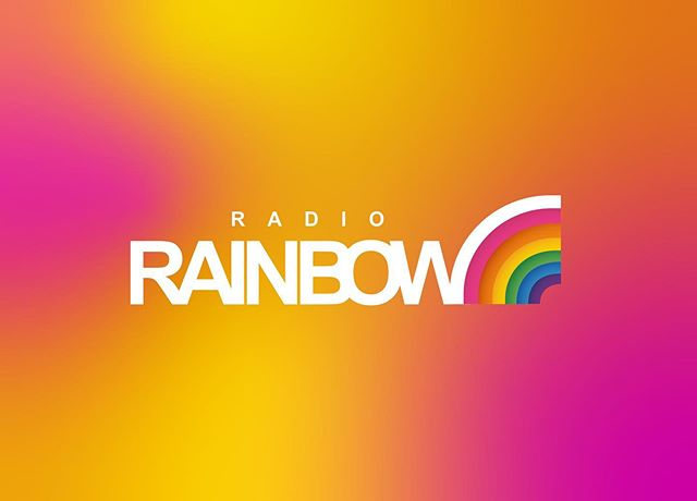 Nordic Entertainment Group, july 2019 __  Logo for brand new station Radio Rainbow 💛💜🧡 Listen at ilikeradio.se