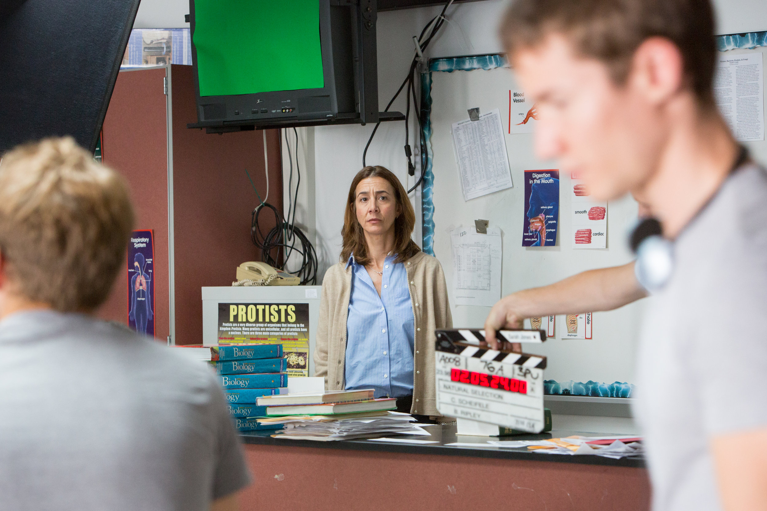 Dina Engel Actor, on-set for the feature film, Natural Selection