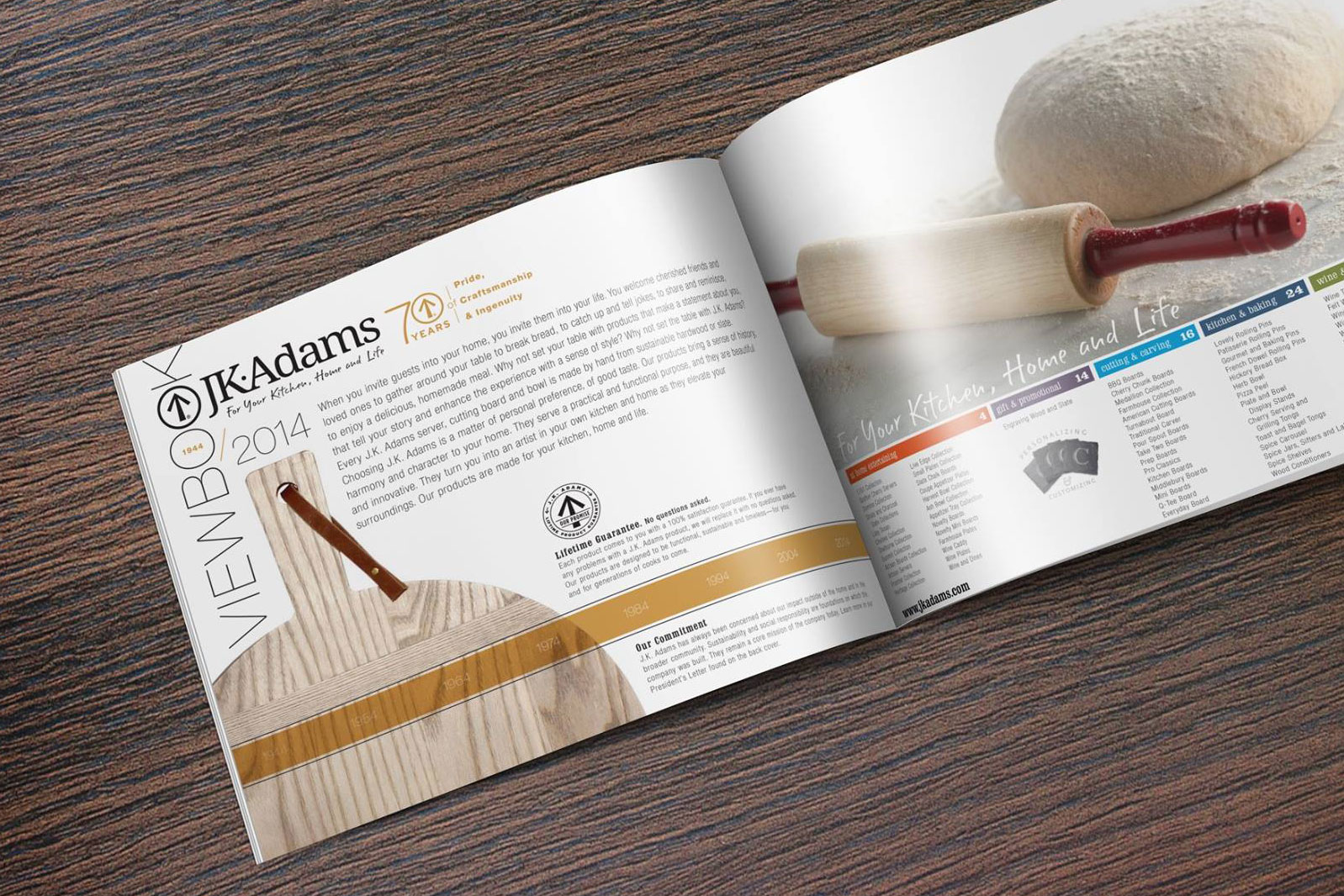 2014 J.K. Adams Catalog Spread