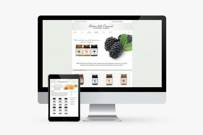 Blake Hill Preserves website design