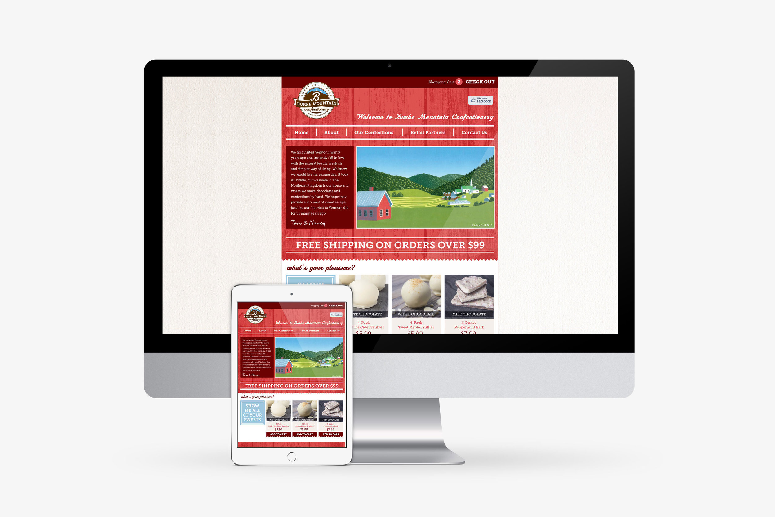 Burke Mountain Confectionary Website design
