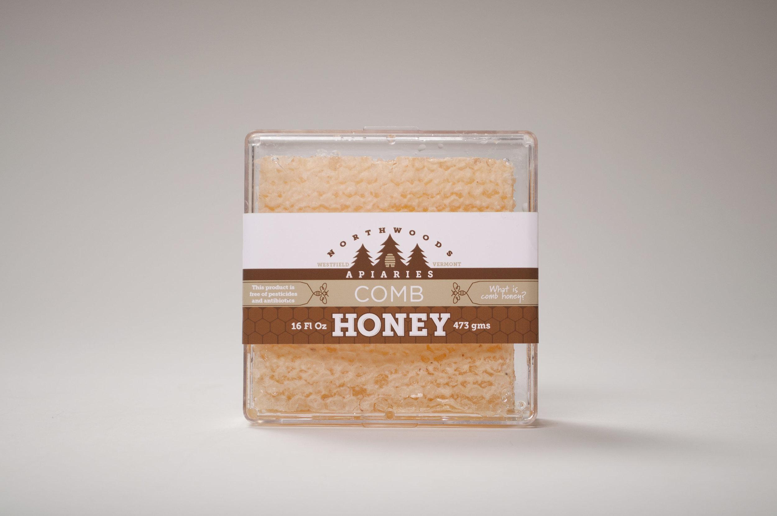 Northwoods Apiaries Honey Comb Packaging