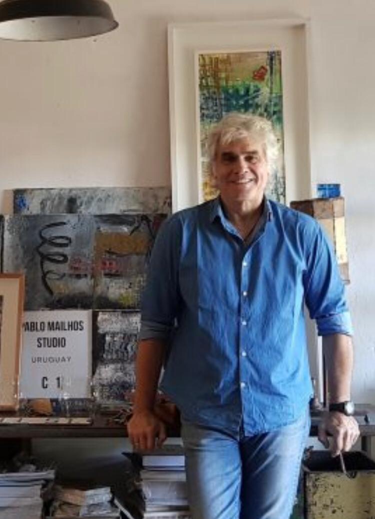 Pablo Mailhos: el artista en clave cuadriculada y vibrante. - 1/12/18