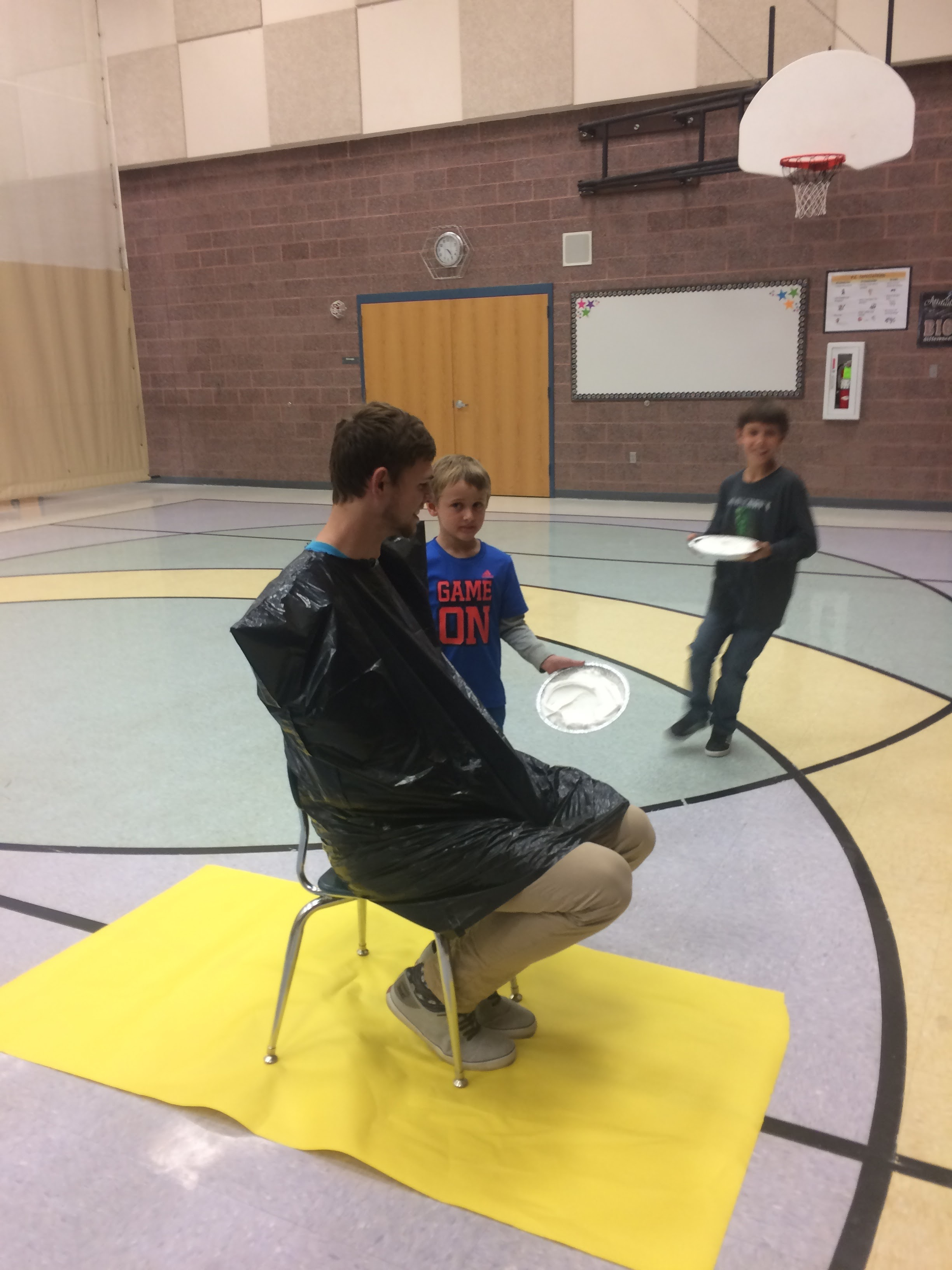 Mr. Connor gets pied!