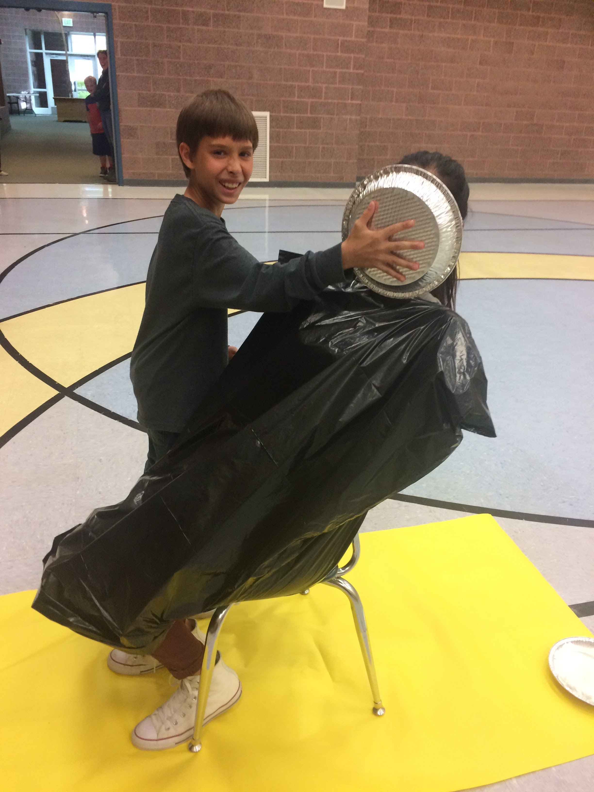 Miss Carina gets pied!