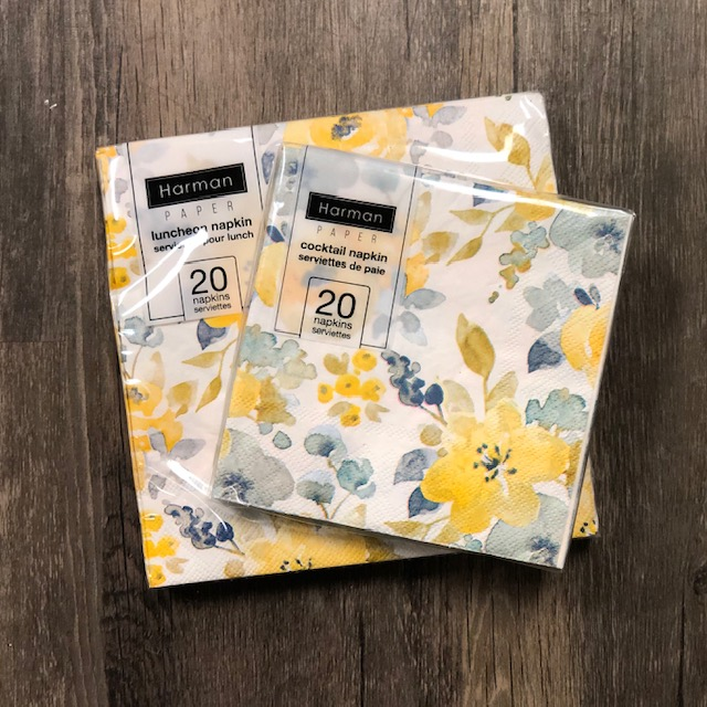 Blue & Yellow Flower Napkins