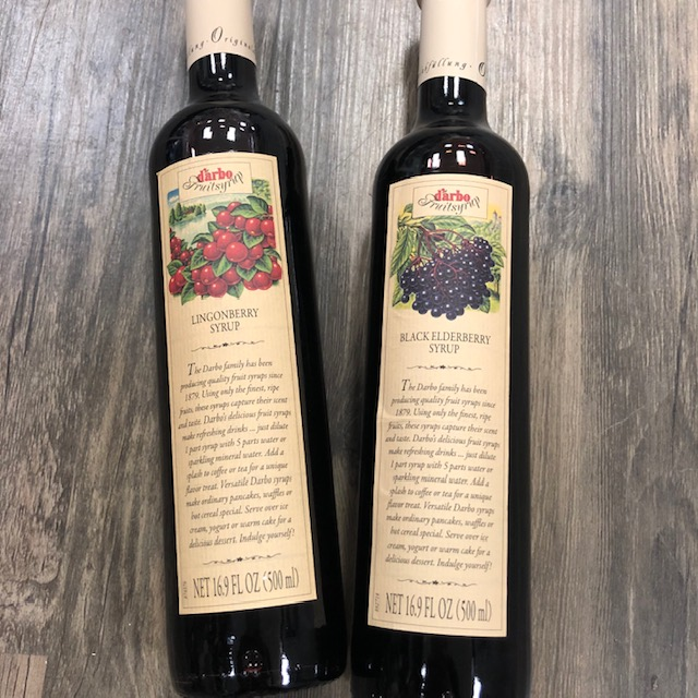 Lingonberry & Black Elderberry Syrups