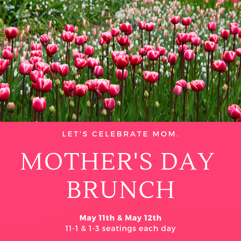 Mother's Day Brunch - We are excited for a wonderful event celebrating a very special person. Bring the whole family to the Cedar Farm Inn for a home-cooked meal, live music, fresh air and a lovely backdrop.We will be partnering with these fantastic local businesses:Amber Baker MassageNova DestinationsSweet Art Photography