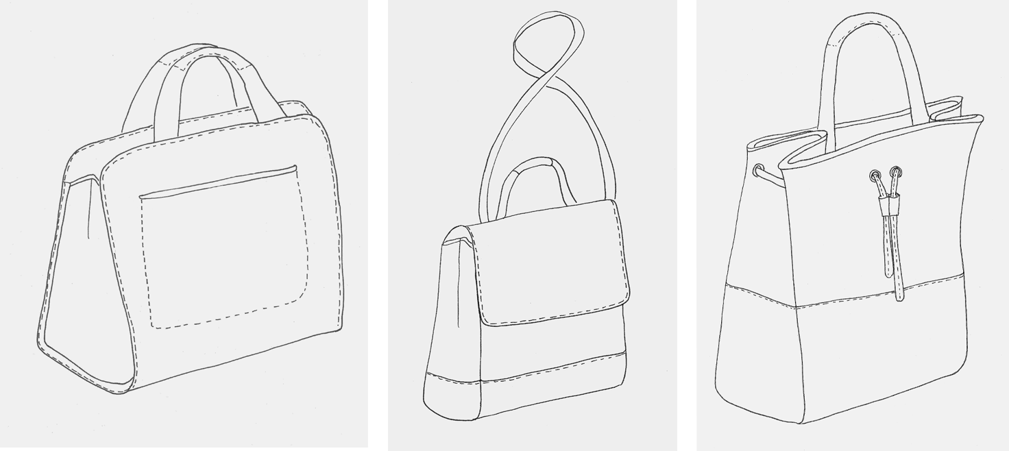 HANDBAG SKETCHES FREELANCE PORTFOLIO