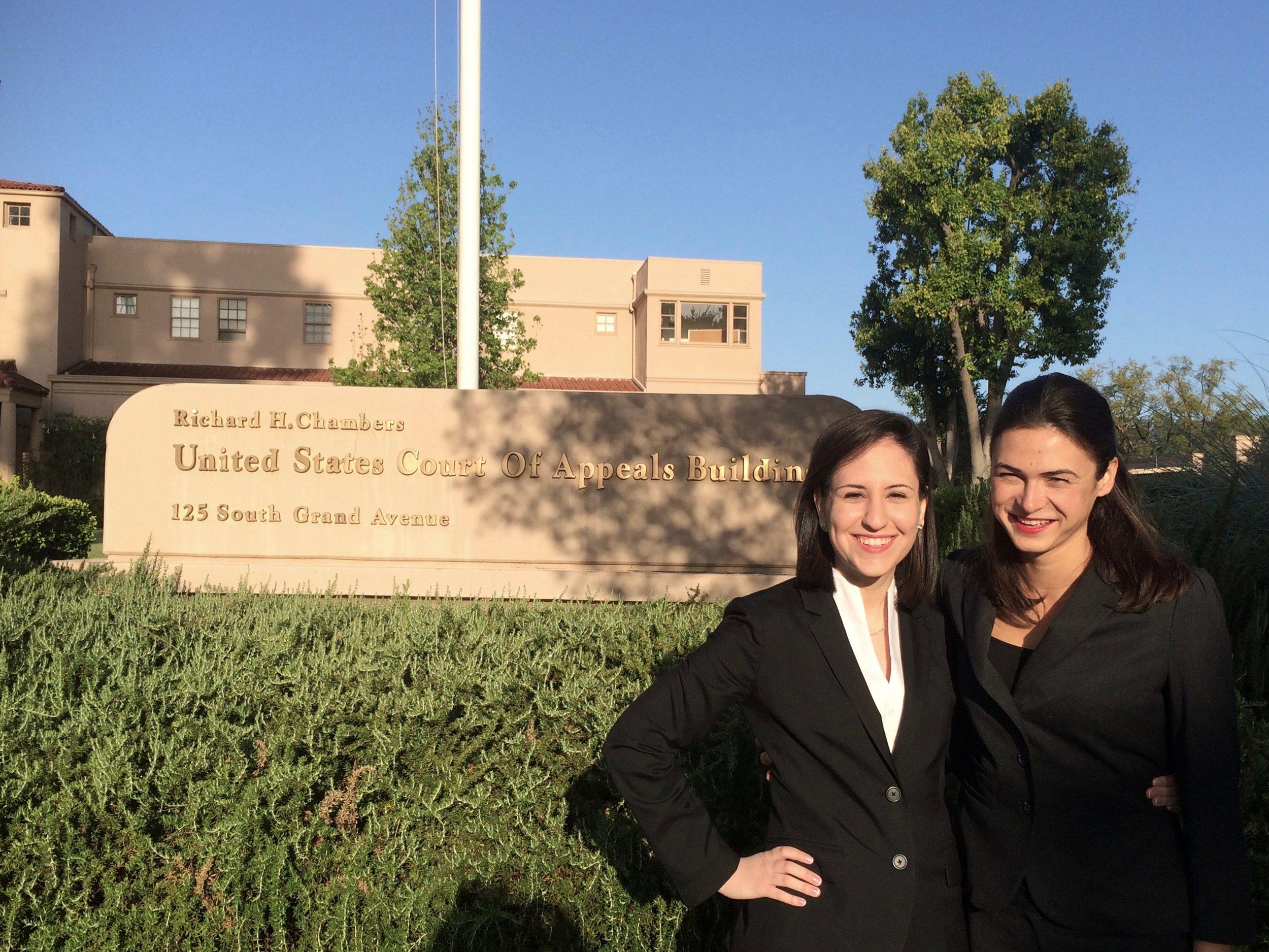 Alejandra Salinas '15 and Shannon Johnson '15