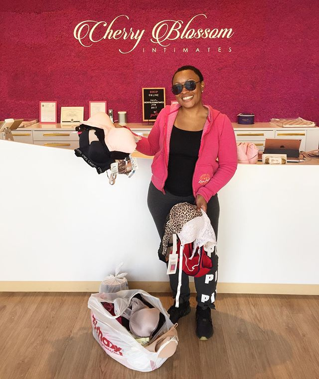 Special thanks to @dessertconnoisseur for jumping into action and collecting close to 50 new and gently used bras with the help of her family and friends!! Also, huge thanks to @cherryblossomintimates for allowing customers to drop-off their bra donations.  Please support this purpose-driven business with bras available in sizes 28a to 54n and custom breast prosthetics for breast cancer survivors.  We appreciate the support and love your dedication to helping women in need. 💞🛍 #TeamGiveBack ~~~~~~~~~~~~~~~~~~~~~~~~~~~~~ Interested in hosting a signature Goodie Girl Bags® Packing Social? Email us for details. goodiegirlbags@gmail.com  #packingsocial  #payitforward #goodiegirlbags #goodiegirlbagspackingsocial #supportthegoodies #giveback #bras #femininehygieneproducts #femininehygiene #womensupportingwomen #homelesswomen #socialresponsibility #dmv #womenshelters #volunteerlife