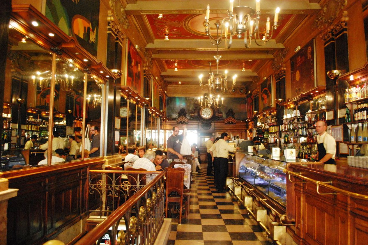 Interior of Cafe A Brasileira