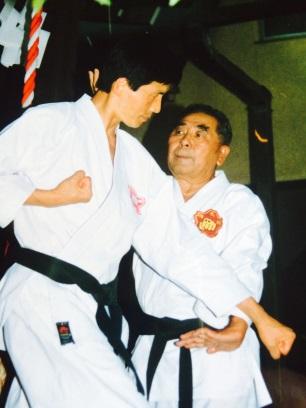 Toshio Tamano (left) and Seikichi Toguchi (right)