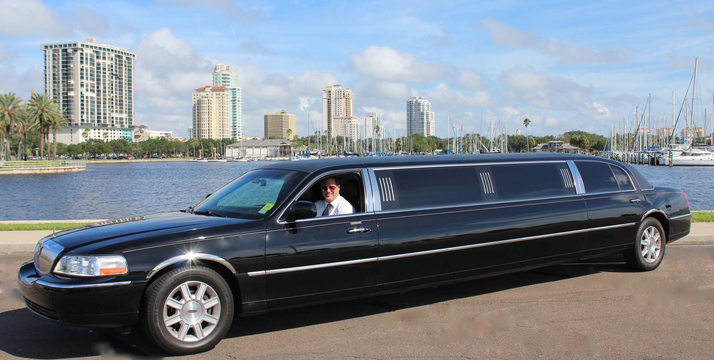 Black Stretch Limo Transportation