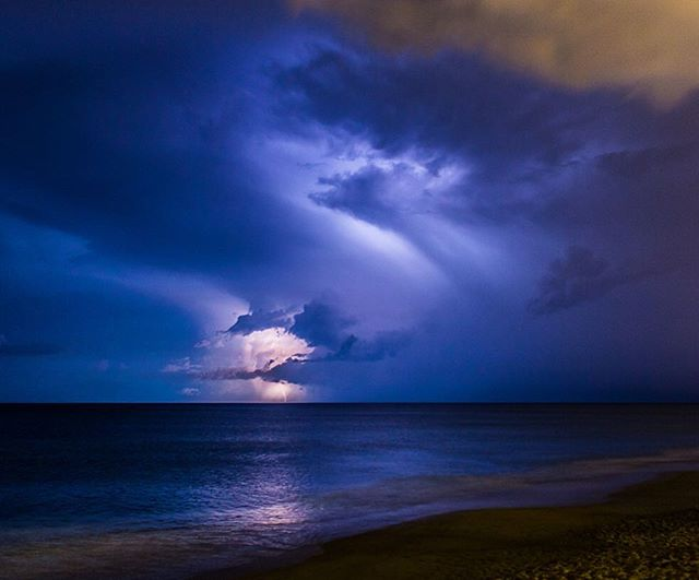 Light show over Lake Atlantic late last night #itsamazingoutthere #outerbanks #outerbanksnc #lightning #teamcanon