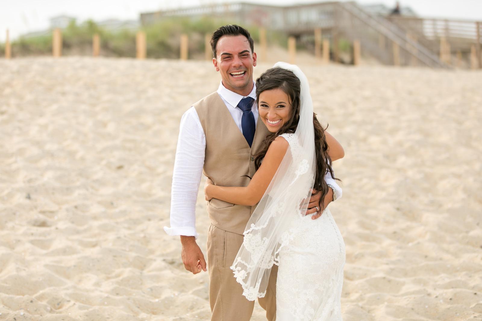 Adrienne + Chris; Kill Devil Hills Beach Wedding